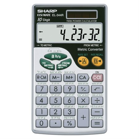 Calculatrice métrique EL-344RB