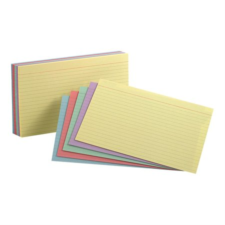 Coloured Assorted Ruled Index Cards