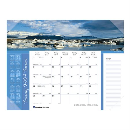 Monthly Desk Pad Calendar (2021)