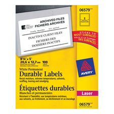 Étiquettes durables blanches TrueBlock™