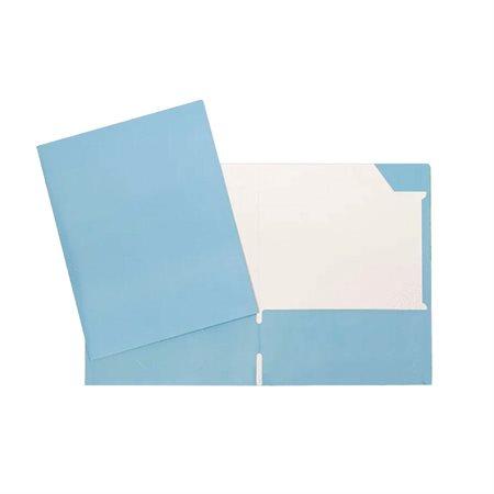 Couverture de présentation bleu pâle