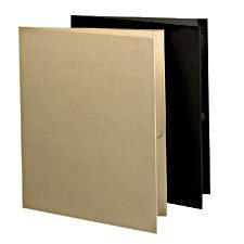 Couverture de présentation recyclée 100 % Earthwise™ Paquet de 10 noir