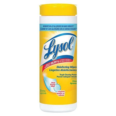 Lingettes désinfectantes Lysol® Paquet de 35 lingettes parfum d'agrumes