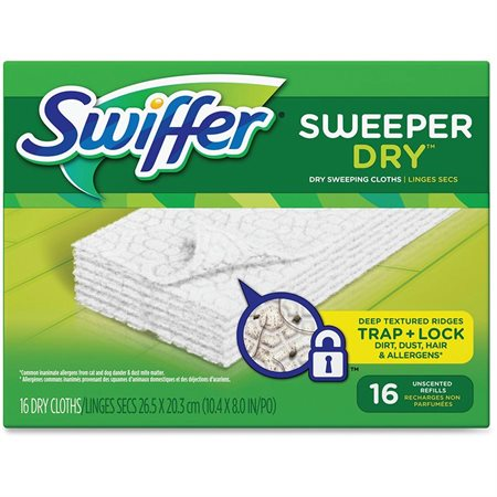 Swiffer Sweeper Dry Sweeping Refill Unscented box 16