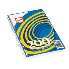 Spiral-bound ruled notebook