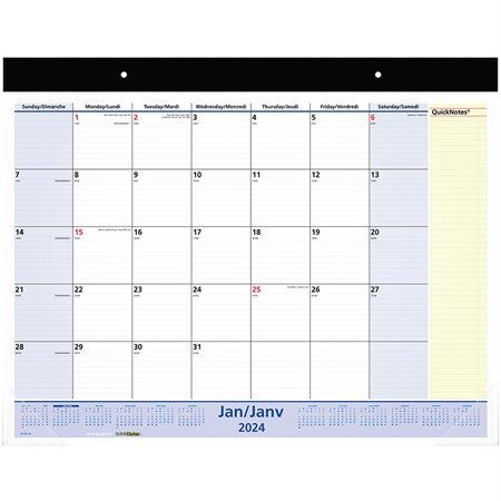 Calendrier mensuel mural / bureau QuickNotes® (2022)