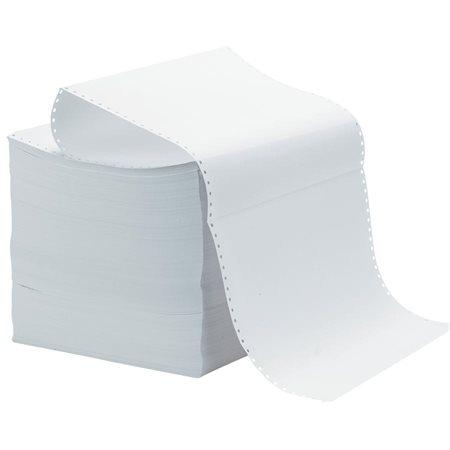 """Papier informatique 14-7 / 8 x 11"""", sans perforation, 1 copie, 30M. uni (3500)"""