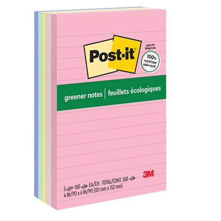 Feuillets Post-it® Greener Notes - collection Helsinki