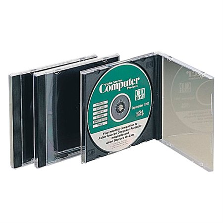 """BOITIER CD / DVD """"1"""" CLAIR @10"""