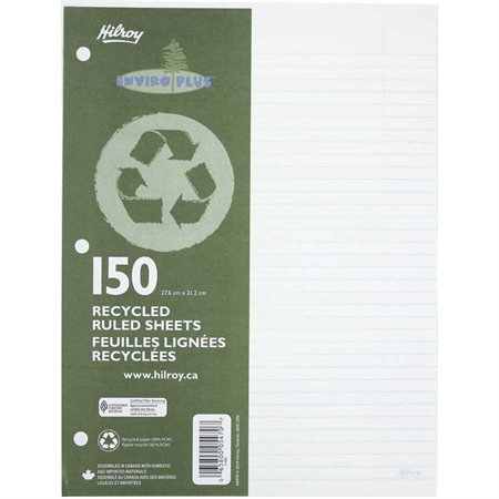 Recycled Ruled Loose-Leaf Sheets
