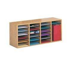 Wood Mailroom Organizer