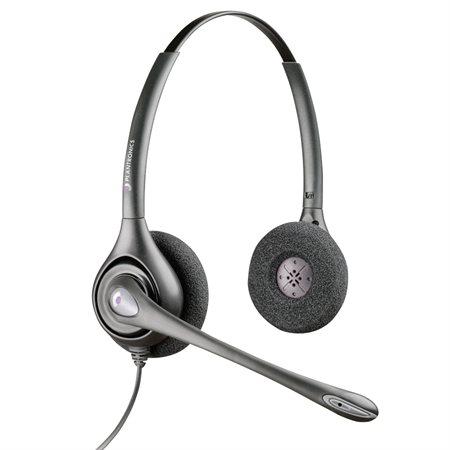 Casque d'écoute SupraPlus HW251  /  HW261 HW261N. Écouteur double. Microphone réducteur de b