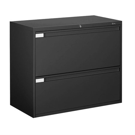 Fileworks® 9300 Plus Lateral Filing Cabinets 2 drawers black