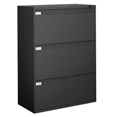 Fileworks® 9300 Plus Lateral Filing Cabinets 3 drawers black