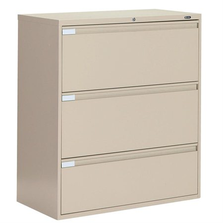 Fileworks® 9300 Plus Lateral Filing Cabinets 3 drawers beige