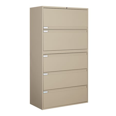Fileworks® 9300 Plus Lateral Filing Cabinets 5 drawers beige