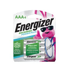 Piles rechargeables Recharge® 4 x AAA