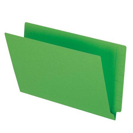 Chemise à dossier à onglet latéral 13-1 / 2 pts. Format légal, boîte de 50 vert