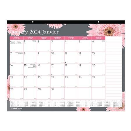 Calendrier sous-main mensuel Ruban rose (2021)