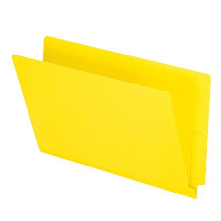 Chemise à dossier à onglet latéral jaune