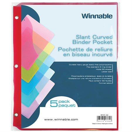 Slant Curved Binder Pocket