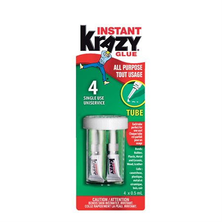 Colle Krazy Glue® 4 tubes de 0,5 ml original
