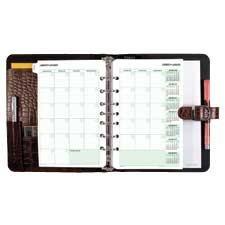"""Planificateur Eco-Friendly Format bureau, 5-1 / 2 x 8-1 / 2"""""""