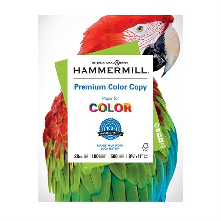 Papier Hammermill Color Copy Digital 28 lb Paquet de 500. lettre - 8-1 / 2 x 11 po