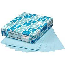 """Papier couverture à usage multiples EarthChoice® Bristol Format lettre, 8-1/2 x 11"""" bleu"""