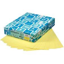 """Papier couverture à usage multiples EarthChoice® Bristol Format lettre, 8-1/2 x 11"""" canari"""