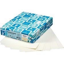 """Papier couverture à usage multiples EarthChoice® Bristol Format lettre, 8-1/2 x 11"""" crème"""