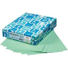 """Papier couverture à usage multiples EarthChoice® Bristol Format lettre, 8-1/2 x 11"""" vert"""