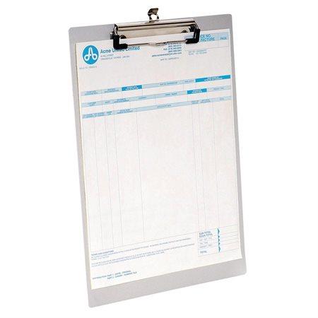 Planchette à pince en aluminium format légal, 9 x 15 po