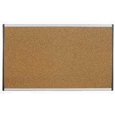 Tableau pour cloison Arc™ Tableau d'affichage en liège 30 x 18 po