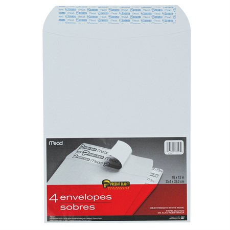 "Enveloppe blanche Press-it Seal-it® 10 x 13"" (4)"