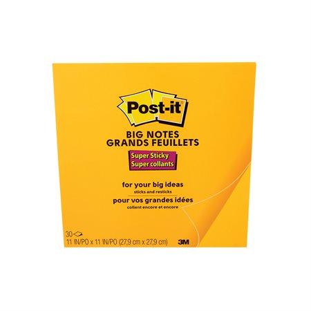 Grands feuillets autoadhésifs Post-it® 11 x 11 po, orange