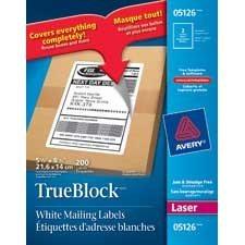 TrueBlock™ White Laser Shipping Labels
