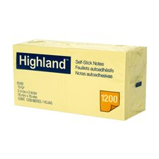 Feuillets autoadhésifs Highland™ Jaune 3 x 3 po.