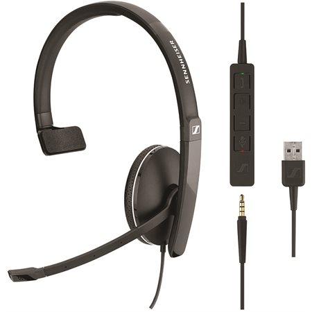 Casque téléphonique avec connexion USB