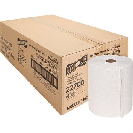 """Essuie-mains en rouleau Blanc 7-7 / 8"""" x 800' (bte 6)"""