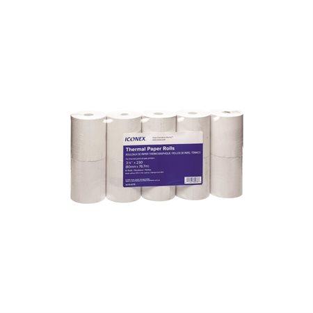 Rouleau de papier thermique 48 g. 3-1 / 8 po. x 230 pi.x 2,8 po. - Pqt 10