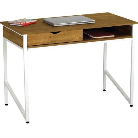 Bureau à tiroir unique base blanche