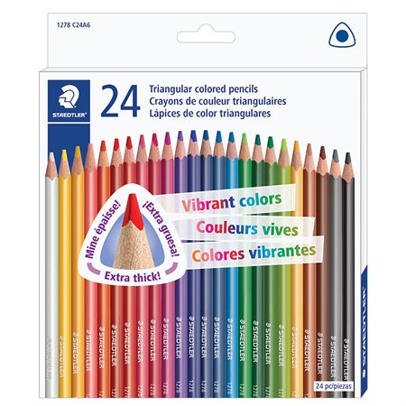 Crayons de couleurs bte 24