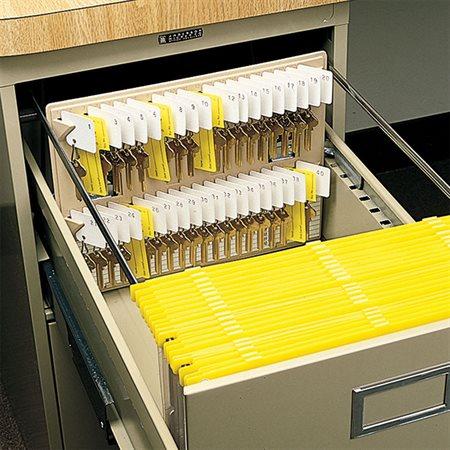 Support à clés pour tiroir de classeur