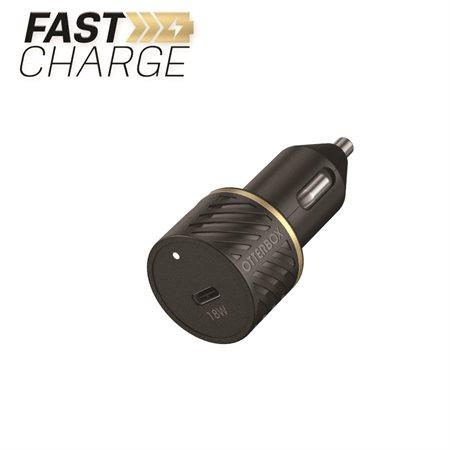 Chargur de voiture USB-C 18W à alimentation rapide Premium