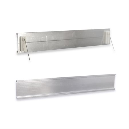 Partition Name Plate Holder 1 x 7'' Silver