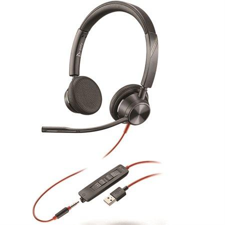 Casque d'écoute Blackwire 3325 BW3325 USB-A Double