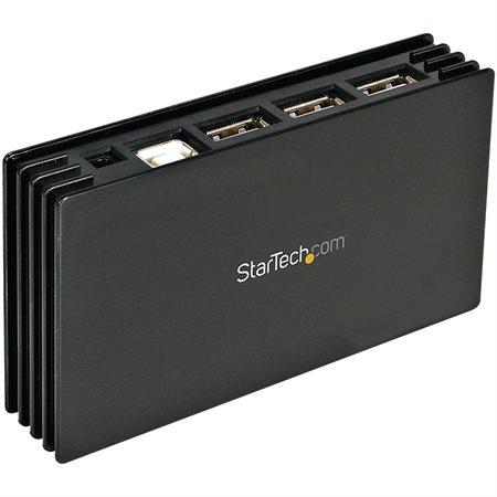 7 Port Compact Black USB 2.0 Hub