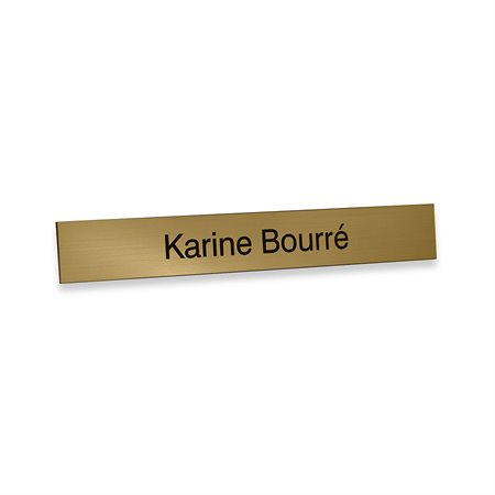 Engraved Name Plate 1 / 16'' x 1 x 7'' Gold