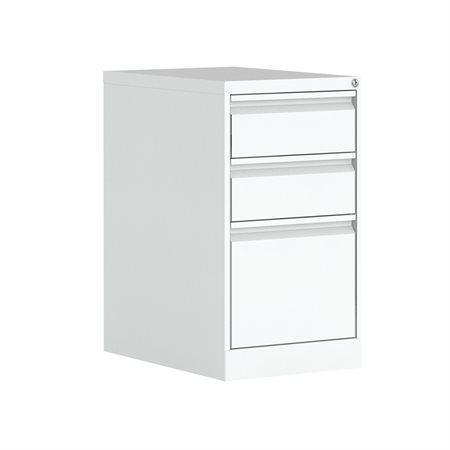 Caisson en métal à deux tiroirs simples et un tiroir classeur
